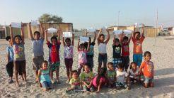 Actividad de los niños y niñas en el programa MANITOS JUGANDO